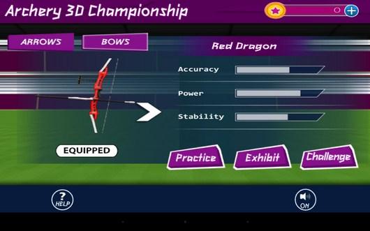 Покупка лука - Archery 3D Championship для Android
