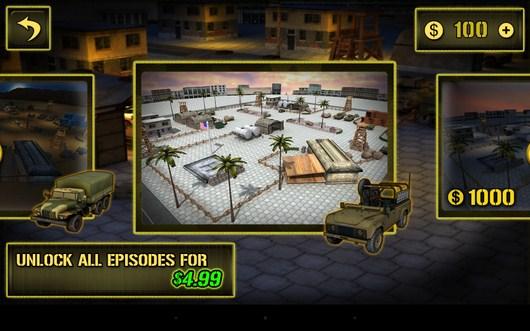Выбор локации - Army Truck Simulator для Android