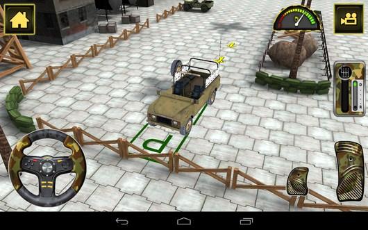 Вид спереди - Army Truck Simulator для Android