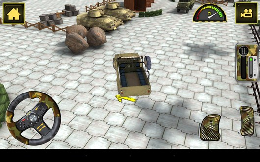 Поворот - Army Truck Simulator для Android