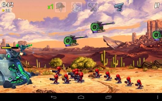 МОщная осада - Army vs Aliens Defense для Android