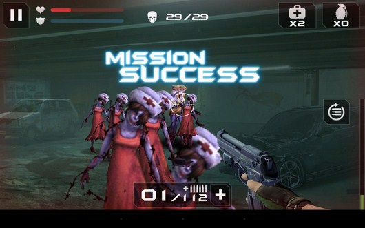 Удачное завершение - Blood Zombies HD для Android