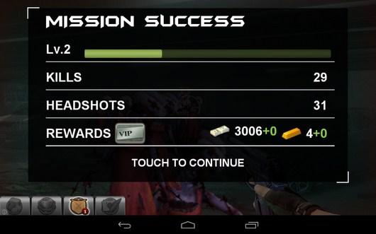Итоги этапа - Blood Zombies HD для Android