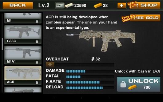 Магазин оружия - Blood Zombies HD для Android
