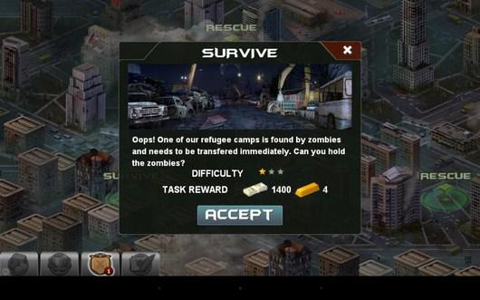 Выбор миссии - Blood Zombies HD для Android