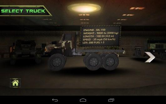 Выбор грузовика - Bomb Transport 3D для Android