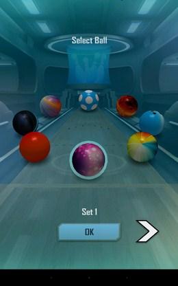 Выбор мяча - Bowling 3D Extreme для Android