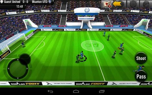 Начало игры - CR Footy для Android