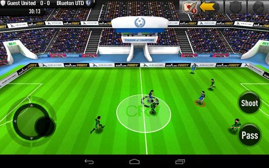 Прессинг противника - CR Footy для Android