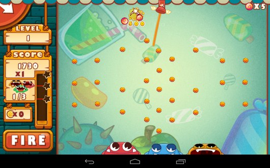 Начало игры - Catch The Candies для Android