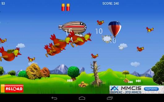 Пора перезаряжаться - Chicken Hunt для Android