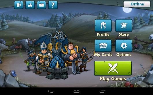 Меню игры - Epic Arena для Android
