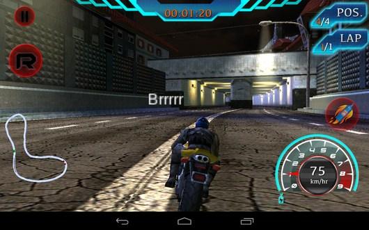 Тонель впереди - Fast Bike Racing для Android