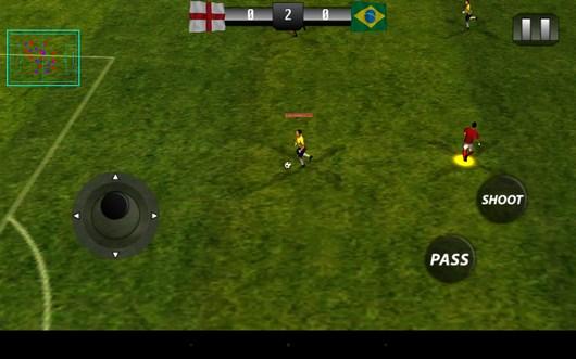 Начало игры - Real Footbal 2014  для Android