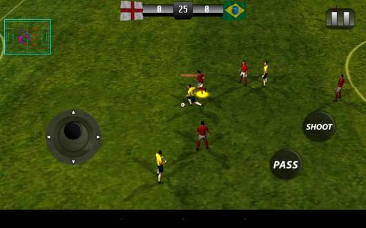 Борьба за мяч - Real Footbal 2014  для Android