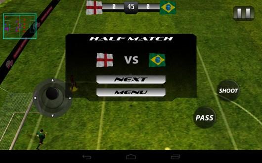Конец тайма - Real Footbal 2014  для Android