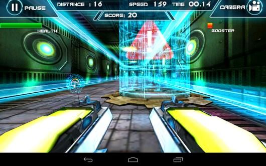 Смена камеры - Future Racing 3D для Android