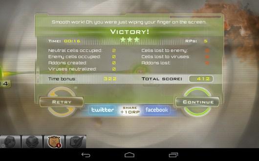 Результаты уровня - Gelluloid для Android