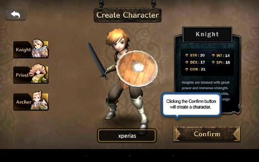 Выбор персонажа - Heaven Sword II для Android