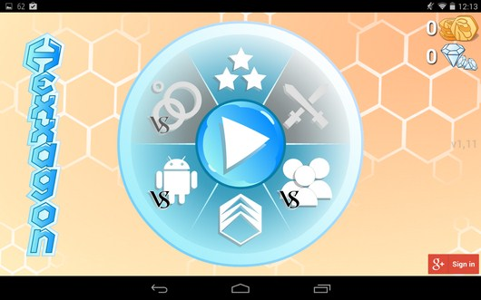 Выбор режима игры - Hexxagon HD для Android