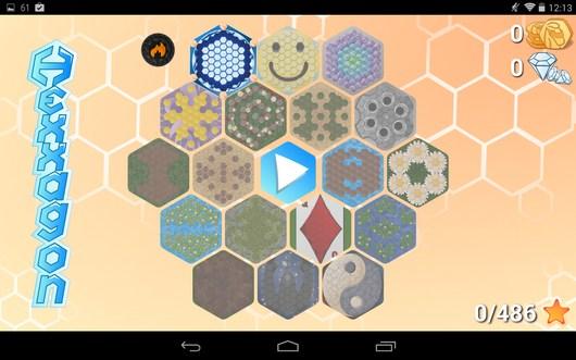 Выбор поля - Hexxagon HD для Android