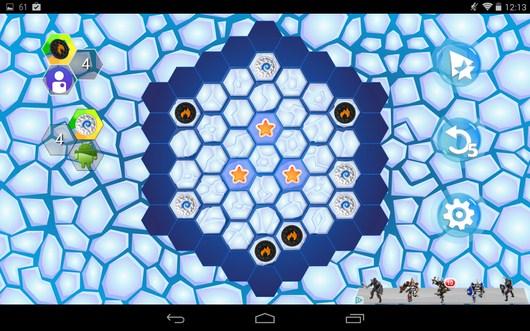 Начало игры - Hexxagon HD для Android