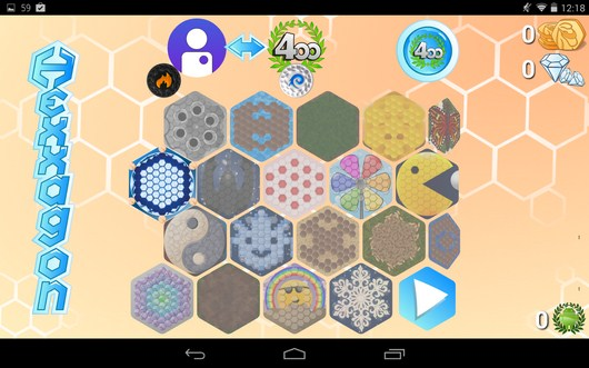 Игра в другом режиме - Hexxagon HD для Android
