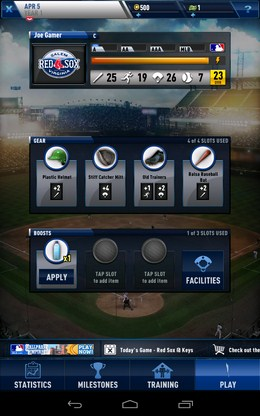 Меню игры - MLB Franchise