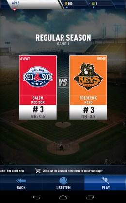 Новый матч и соперник - MLB Franchise