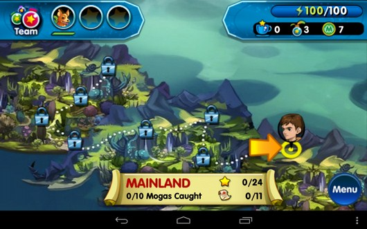 карта - Monster Galaxy для Android