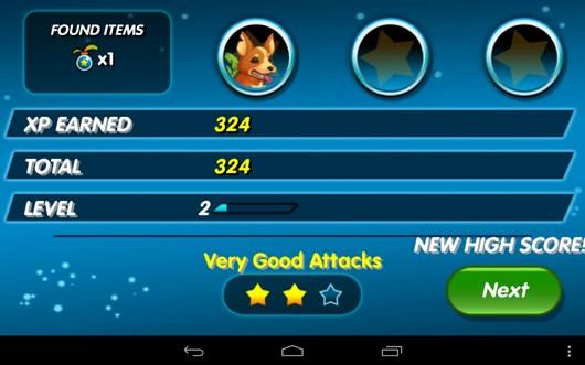 Результаты боя - Monster Galaxy для Android