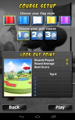 Настройка этапа - My Golf 3D для Android