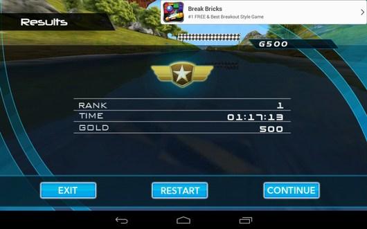 Результаты состязания - Powerboat Racing для Android