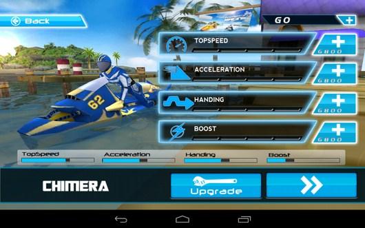 Апгрейд мотоцикла - Powerboat Racing для Android