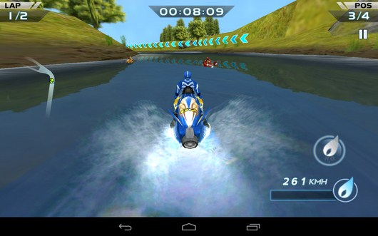 Начало гонки -  Powerboat Racing для Android
