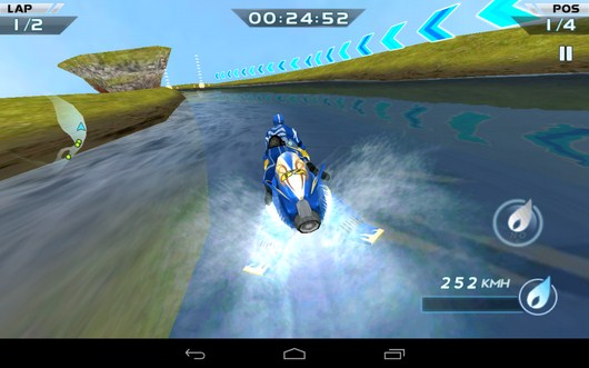 Поворот -  Powerboat Racing для Android