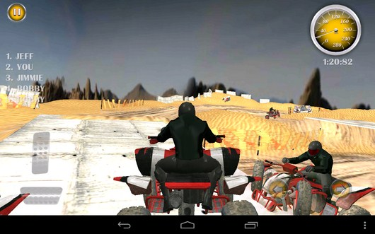 Соперник упал - Quad Bike Race  для Android