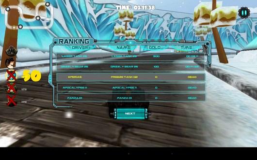 Итоги - Racing Tank для Android