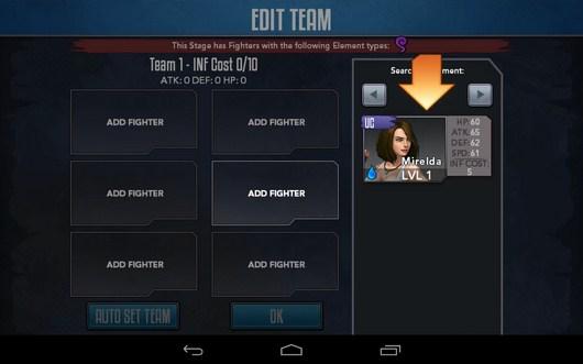 Выбор бойца - Rage of the Immortals для Android