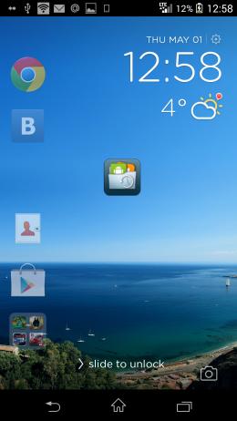 Запуск приложения - CM Locker для Android
