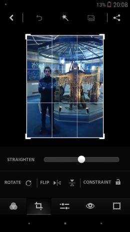 Кадрирование - Adobe Photoshop Express для Android