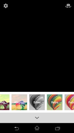 Фильтры -  Retrica для Android