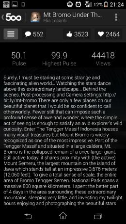 Описание - 500px для Android