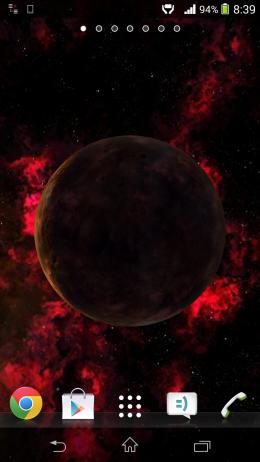Огненная планета - Universe 3D для Android