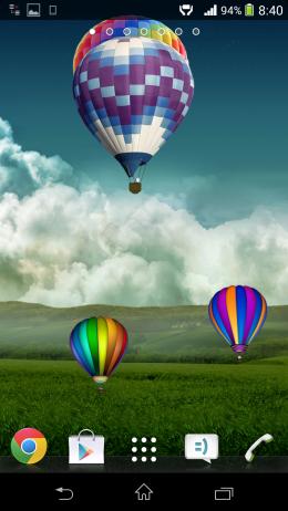 Шары на полем - Воздушные шары для Android