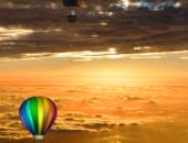 Шары на закате - Воздушные шары для Android