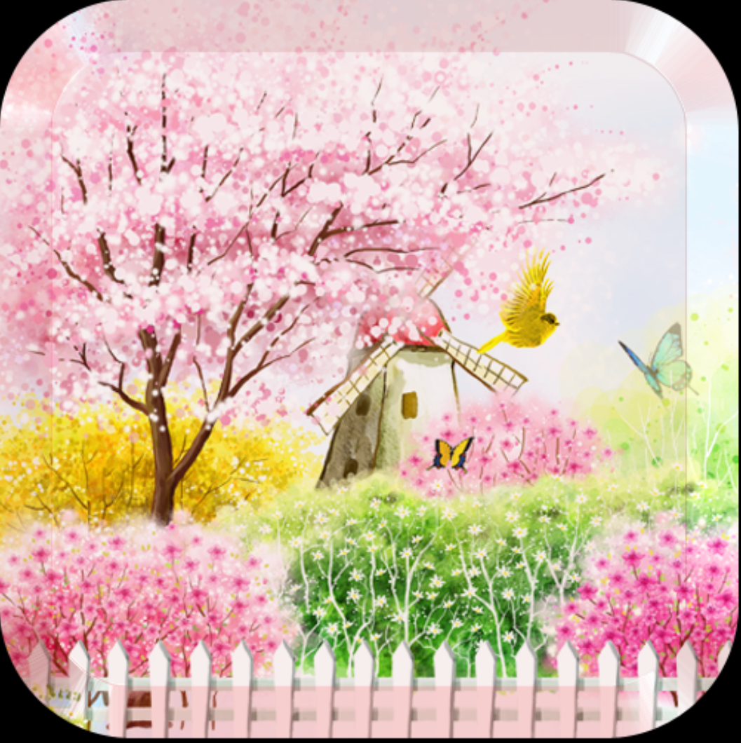 Иконка - Bird tweet fragrant flowers для Android