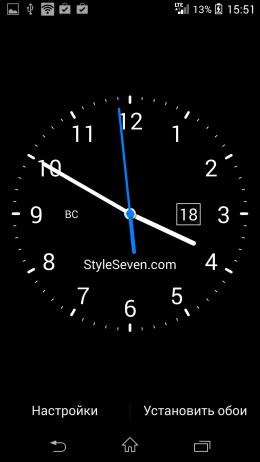 Предварительный просмотр - Analog Clock Live Wallpaper-7 для Android