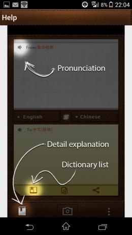 Справка - CamDictionary для Android