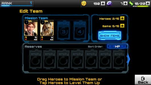 Персонажи - Star Wars: Assault Team для Android